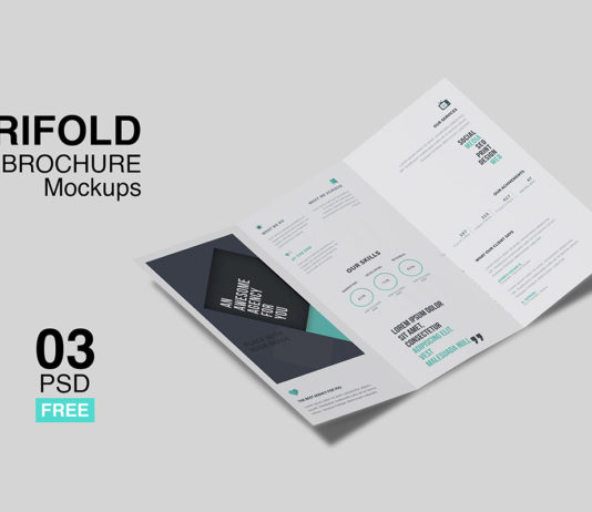 Free Trifold Brochure Mockup Pack