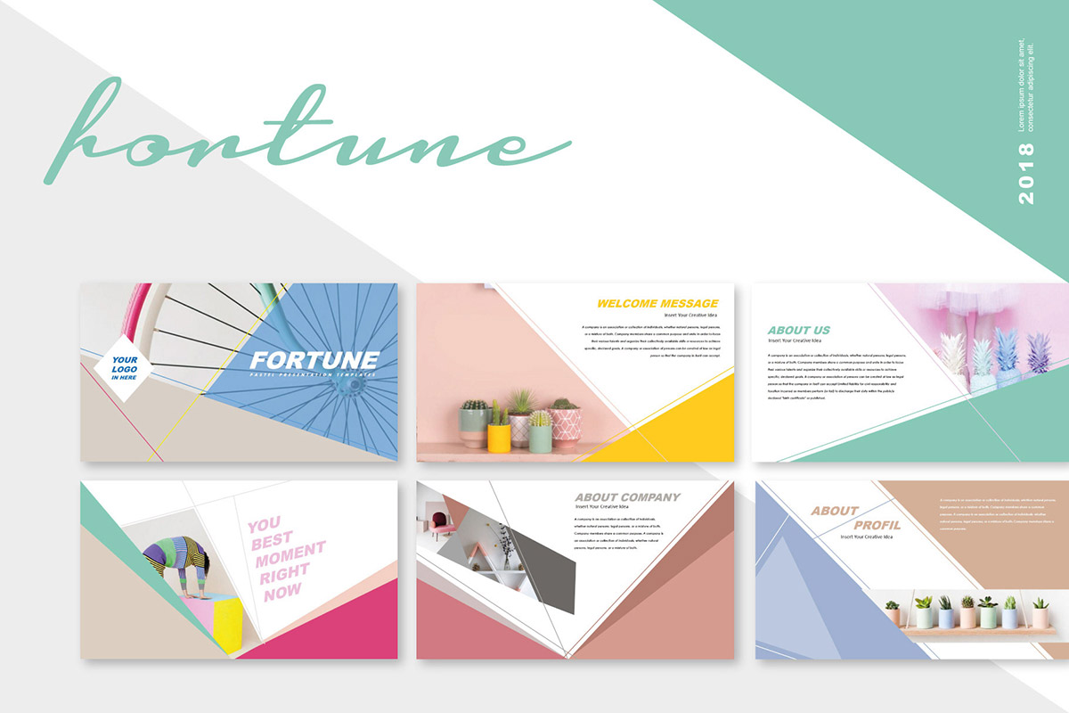 Free Fortune Creative PowerPoint Template