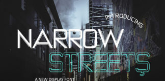 Free Narrow Streets Display Font