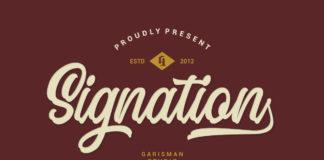 Free Signation Handlettering Font