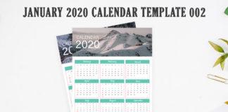Free 2020 Calendar Printable Template 002