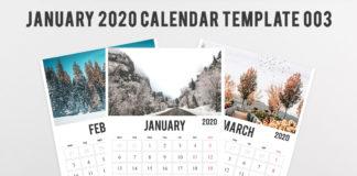 Free 2020 Calendar Printable Template 003