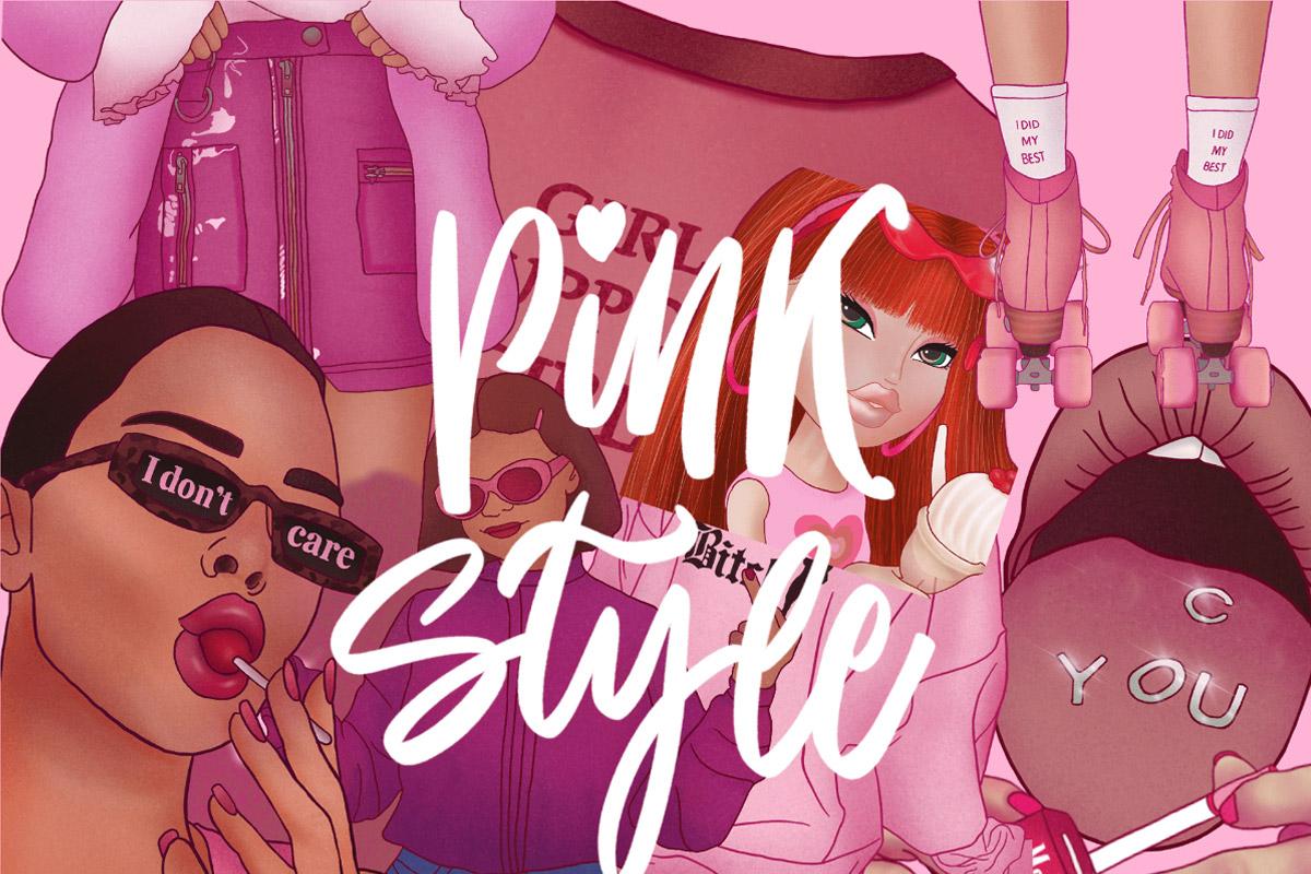 Free Pink Fashion Arts Procreate