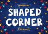 Free Shaped Corner Display Font