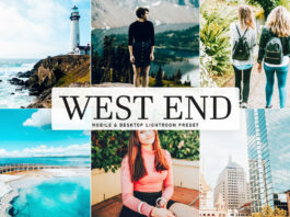 Free West End Lightroom Preset
