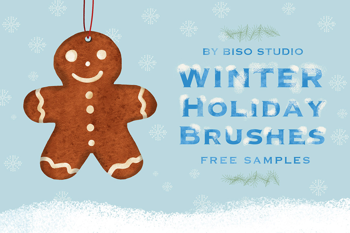 Free Winter Holiday Brushes Procreate