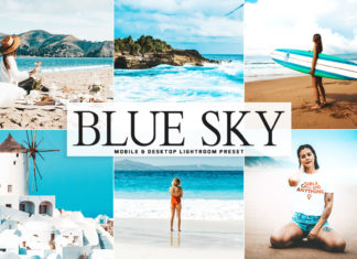 Free Blue Sky Lightroom Preset
