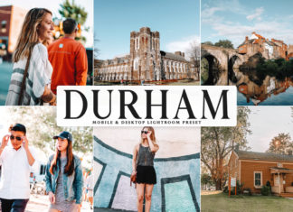 Free Durham Lightroom Preset
