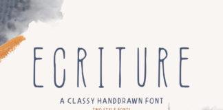 Free Ecriture Handdrawn Font