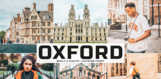 Free Oxford Lightroom Preset