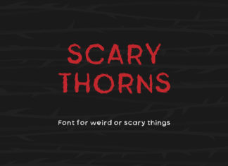 Free Scary Thorns Fancy Font