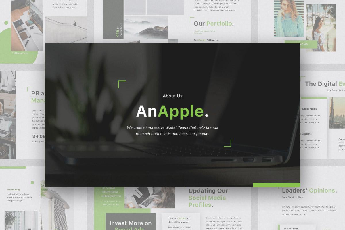 Free AnApple Presentation Template