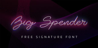 Free Big Spender Signature Font