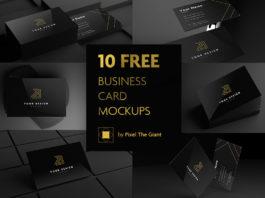Free Black Business Card Mockups