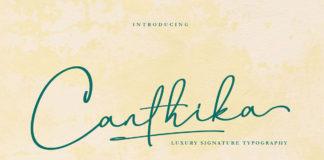 Free Canthika Signature Font