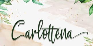 Free Carlottena Calligraphy Font