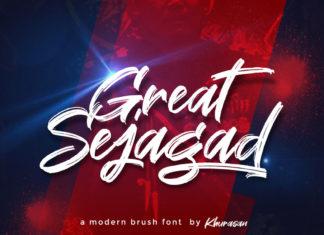 Free Great Sejagad Brush Font