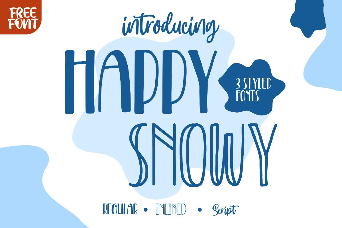 Free Happy Snowy Display Font Family