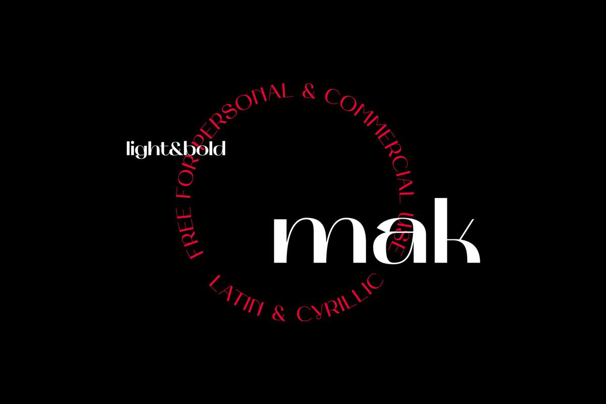 Free Mak Fancy Font Family
