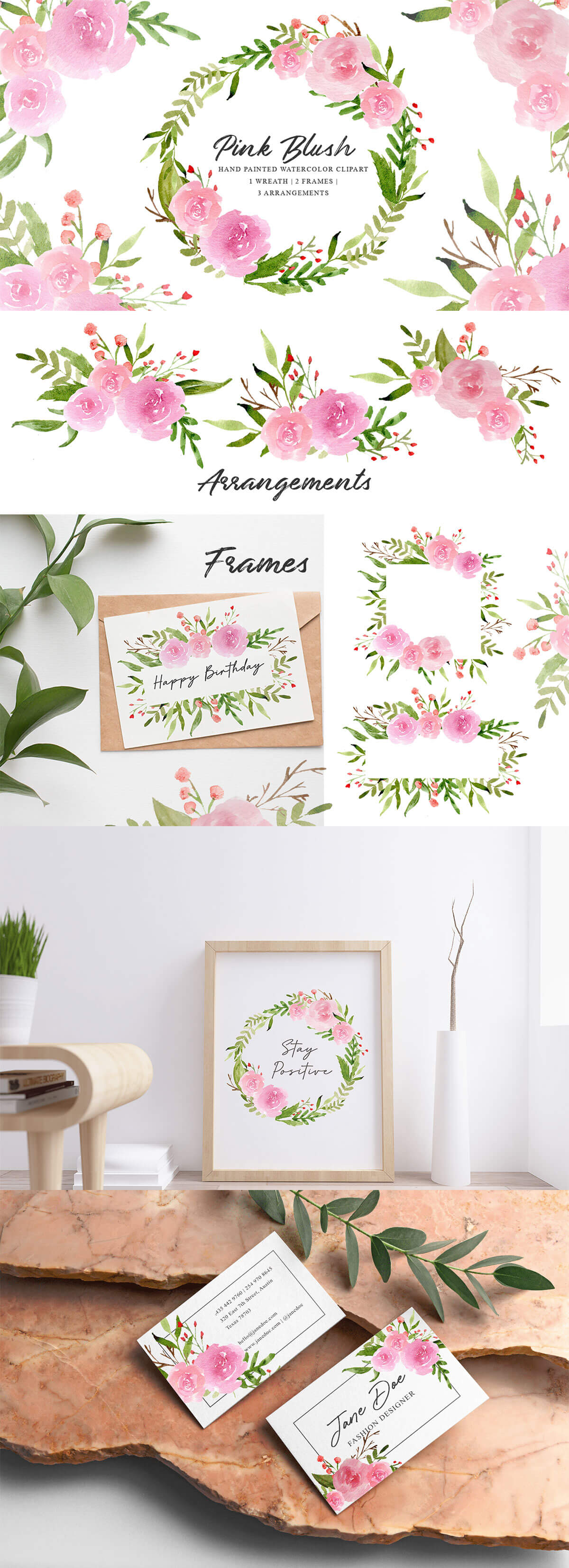 Free Pink Blush Watercolor Clipart