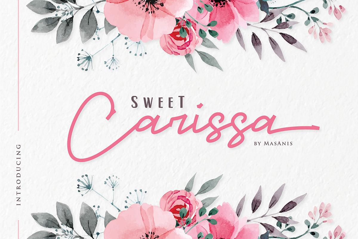 Free Sweet Carissa Signature Font