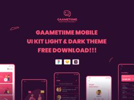 Free Gaametiime UI Kit Template