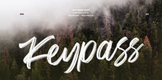 Free Keypass Handbrush Font