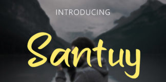 Free Santuy Handwritten Font