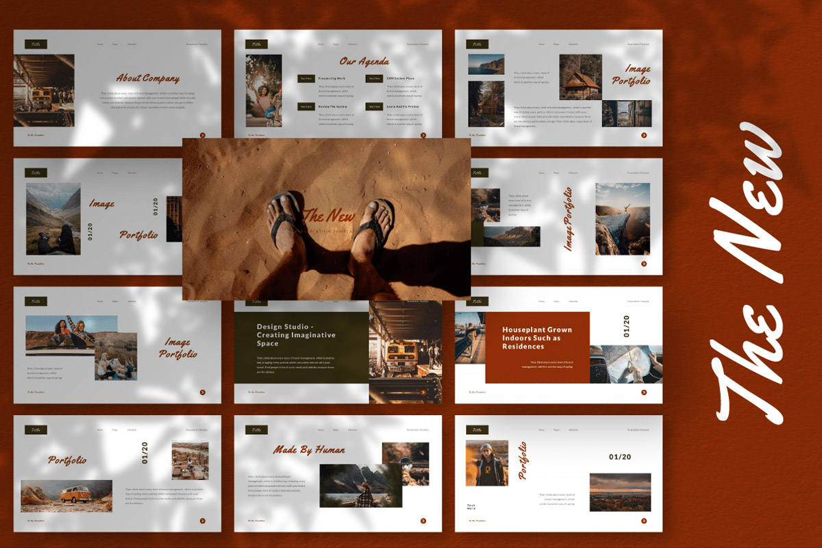Free The New Presentation Template