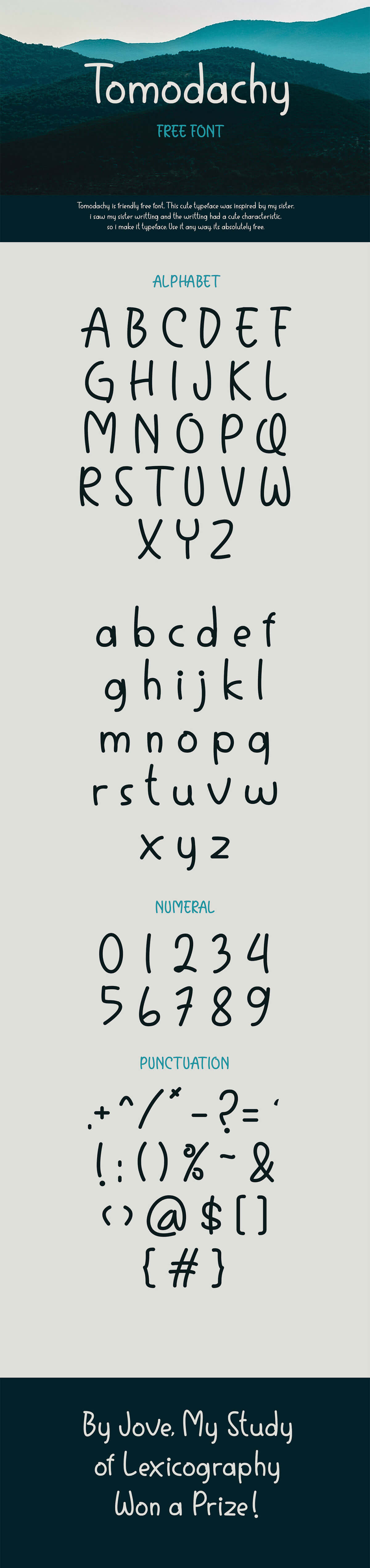 Free Tomodachy Handwriting Font