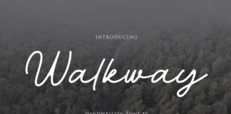 Free Walkway Handwriten Font