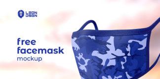 Free Face Mask Mockup
