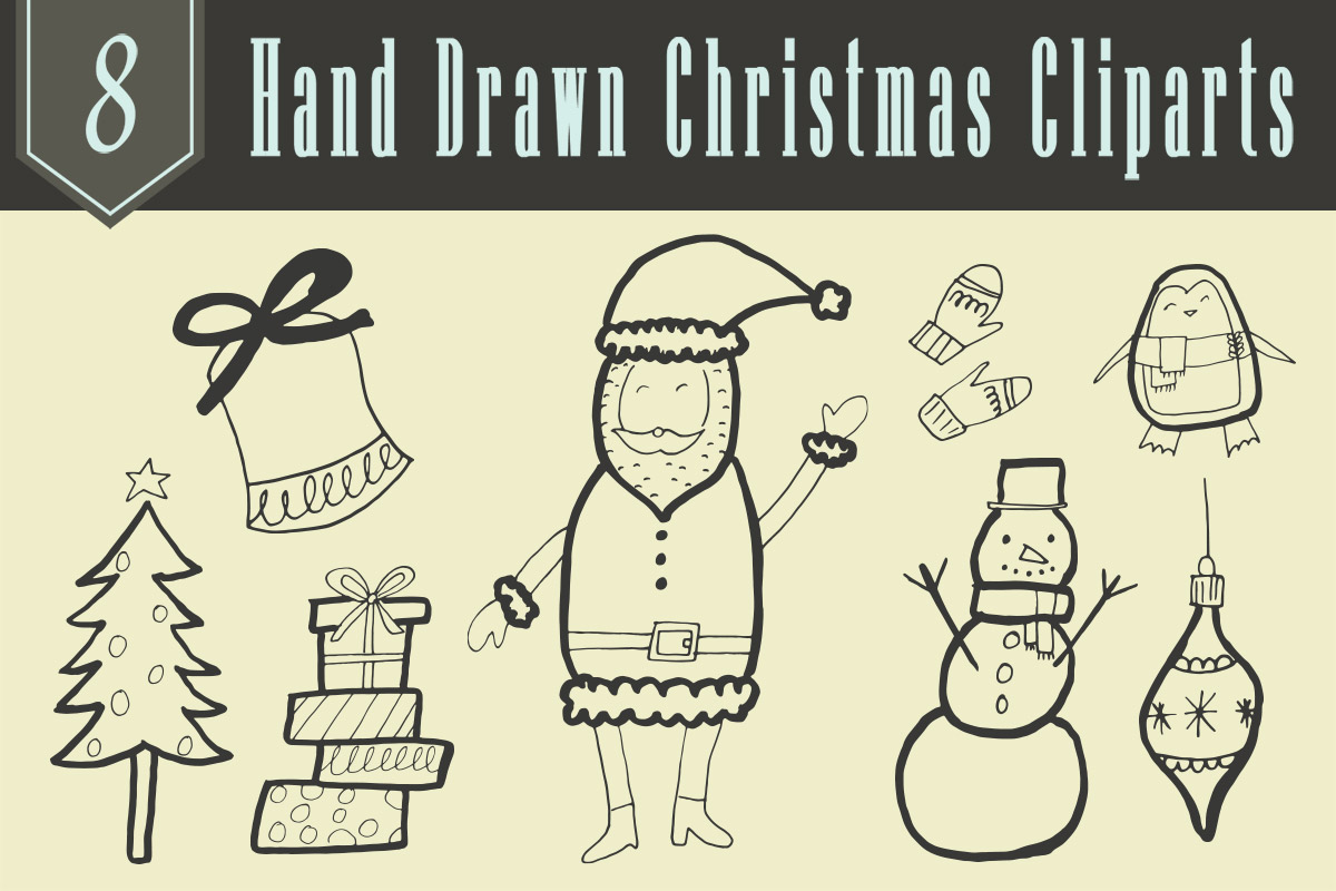 Free Hand Drawn Christmas Cliparts
