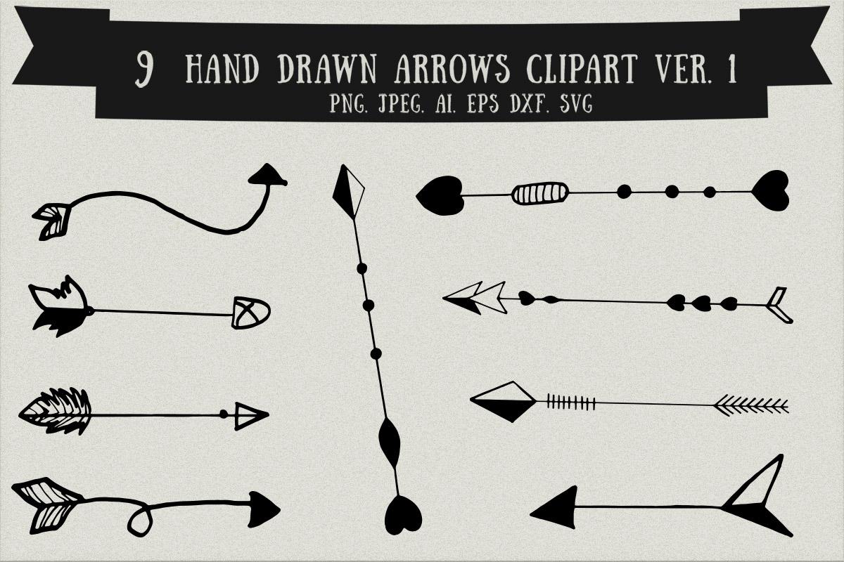 Free Handmade Arrows Clipart V1