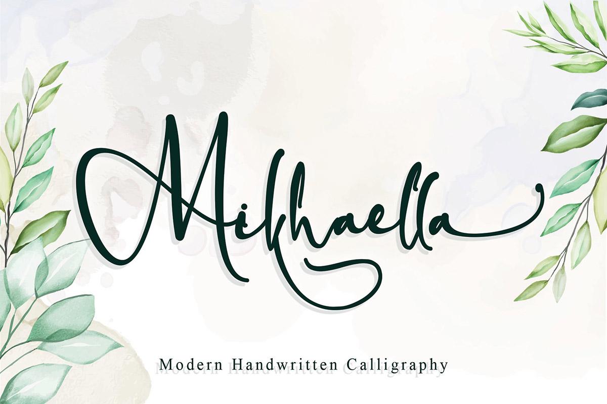 Free Mikhaella Calligraphy Font