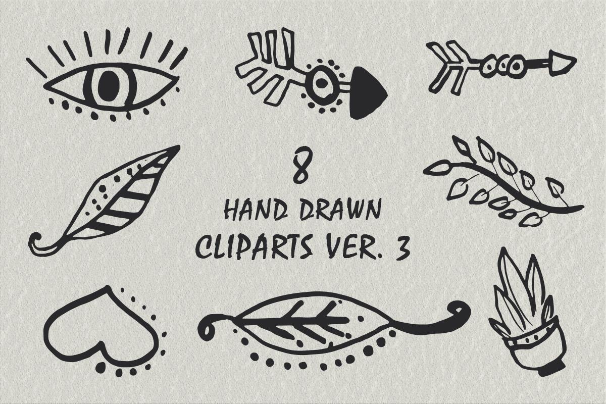 Free Handmade Creative Cliparts V3