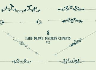 Free Handmade Dividers Cliparts V2