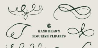 Free Handmade Flourish Cliparts