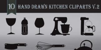 Free Handmade Kitchen Cliparts V2
