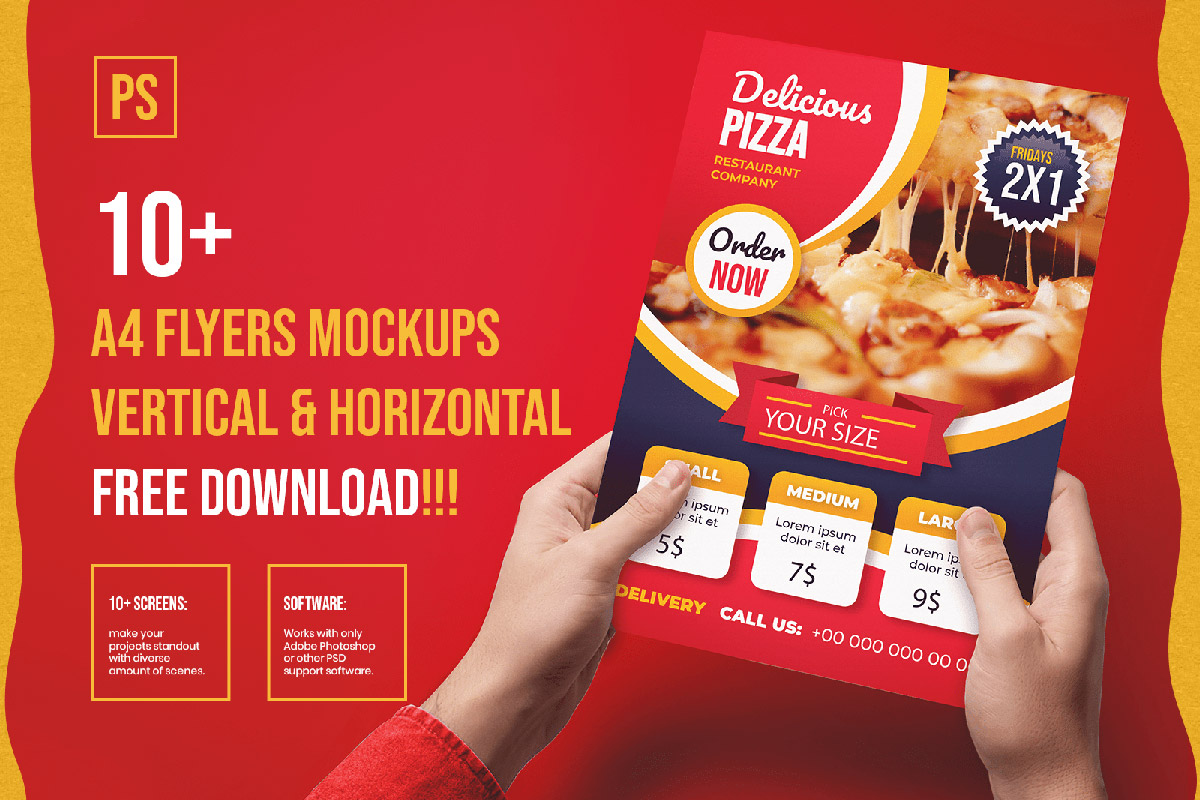 Free A4 Flyer Mockup Collections