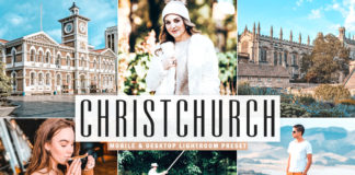 Free Christchurch Lightroom Preset