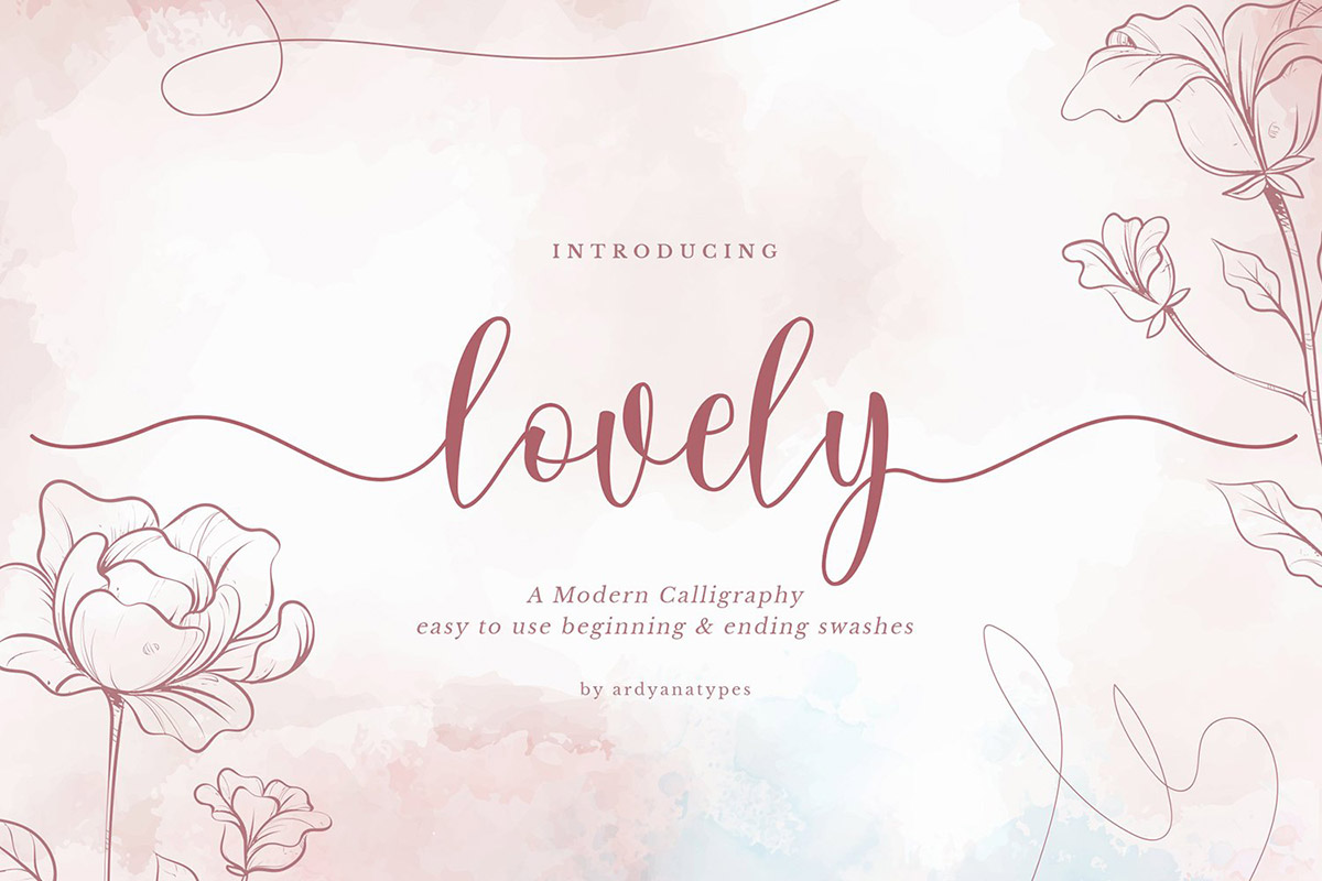 Free Lovely Calligraphy Font