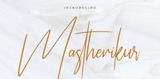Free Mastherikur Signature Font