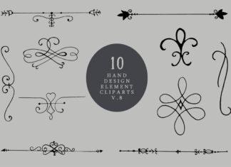 Free Handmade Element Cliparts V8