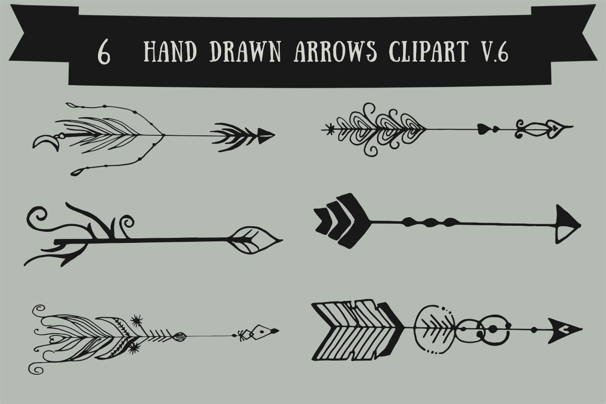 Free Handmade Arrows Cliparts V6