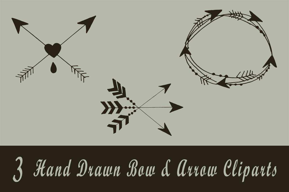 Free Handmade Bow & Arrow Cliparts