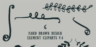 Free Handmade Design Element Cliparts V4