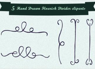 Free Handmade Flourish Divider Cliparts