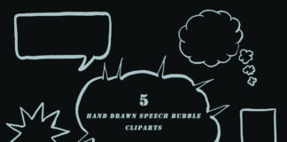 Free Handmade Speech Bubble Cliparts
