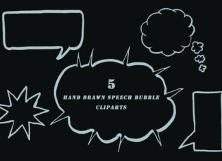 Free Handmade Speech Bubble Cliparts